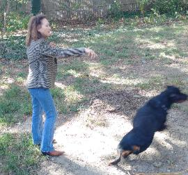 Frania is a force free dog training professional
